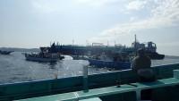 2016年6月18日貨物船接近。