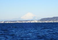 2017年2月11日久里浜沖の富士山