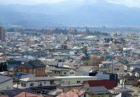 2017年11月12日飯盛山から鶴ヶ城を望む