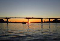 2017年12月9日城ヶ島大橋の日の出
